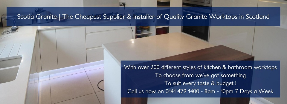 Granite worktops glasgow edinburgh aberdeen scotland for Silestone sink reviews